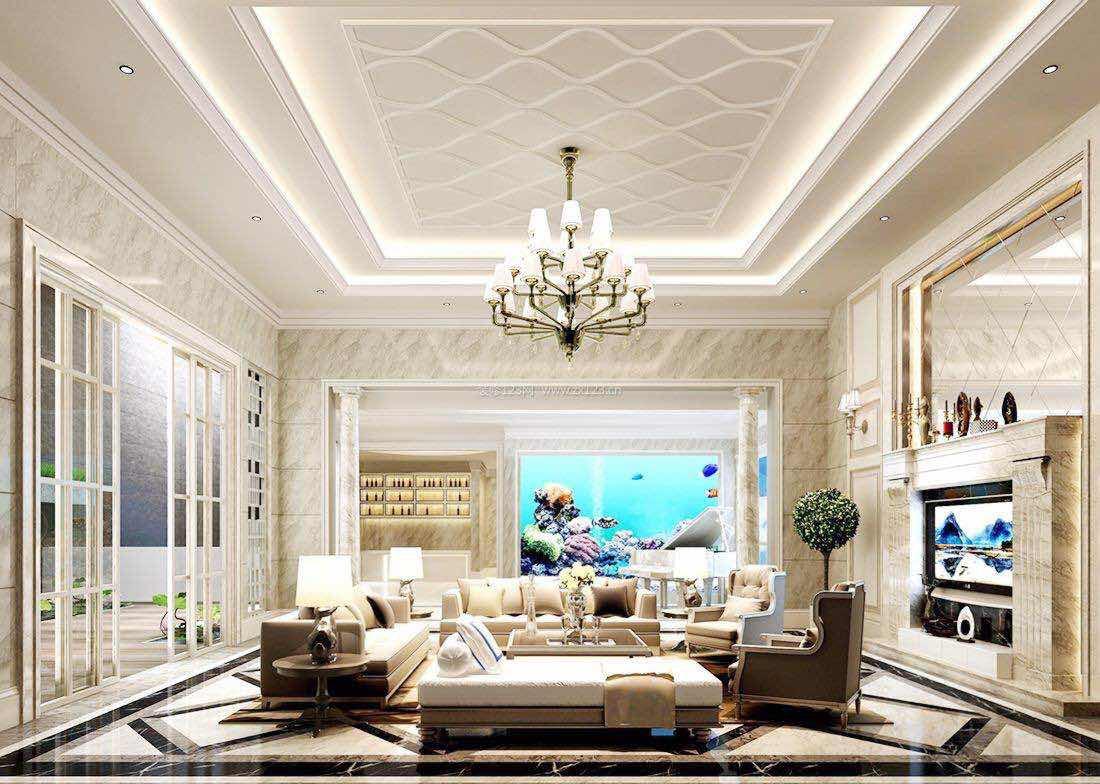 客厅装修不要吊顶,石膏线条,电视墙应该怎样做比较好?