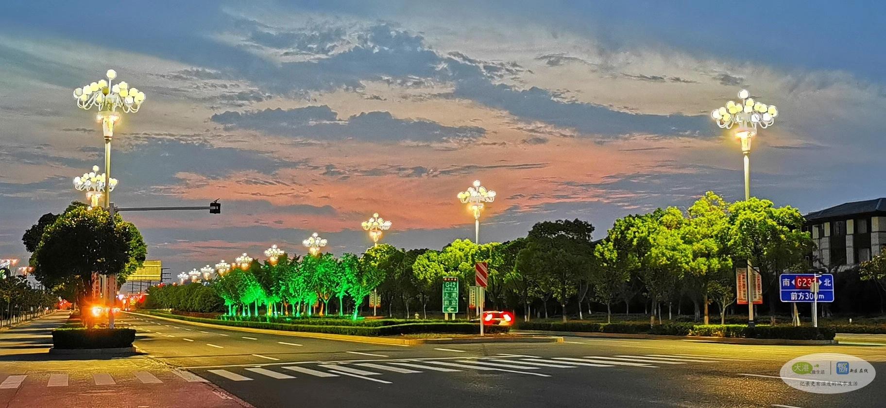 美丽夜景在新区